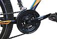 """Гірський велосипед CROSSRIDE """"MAD MAN"""" 27,5"""" з дисковими гальмами, Чорно-помаранчевий, фото 5"""