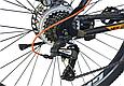 """Гірський велосипед CROSSRIDE """"MAD MAN"""" 27,5"""" з дисковими гальмами, Чорно-помаранчевий, фото 6"""