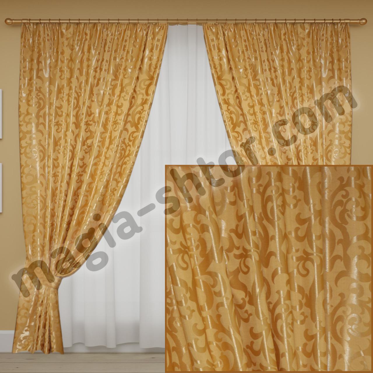 Готовые шторы жаккард для спальни
