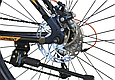 """Горный велосипед CROSSRIDE MAD MAN 27,5"""" 19""""  Черный/Голубой/Оранжевый, фото 8"""