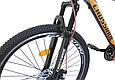 """Гірський велосипед CROSSRIDE """"MAD MAN"""" 27,5"""" з дисковими гальмами, Чорно-помаранчевий, фото 4"""