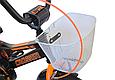 """Детский велосипед CROSSER ROCKY 16"""" с корзиной, багажником и боковыми колесами, Черно-оранжевый, фото 9"""