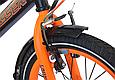 """Детский велосипед CROSSER ROCKY 16"""" с корзиной, багажником и боковыми колесами, Черно-оранжевый, фото 4"""