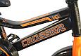 """Детский велосипед CROSSER ROCKY 16"""" с корзиной, багажником и боковыми колесами, Черно-оранжевый, фото 5"""