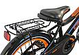 """Детский велосипед CROSSER ROCKY 16"""" с корзиной, багажником и боковыми колесами, Черно-оранжевый, фото 8"""