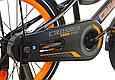 """Детский велосипед CROSSER ROCKY 16"""" с корзиной, багажником и боковыми колесами, Черно-оранжевый, фото 7"""