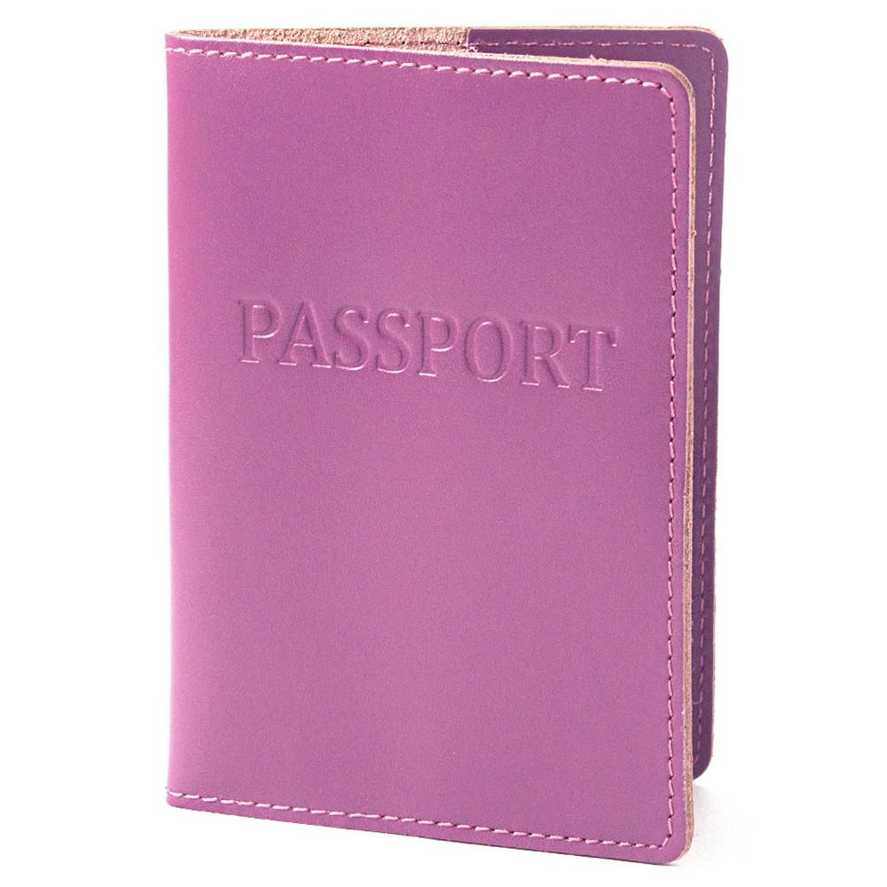 Обложка на паспорт кожаная ST-18 (фуксия)