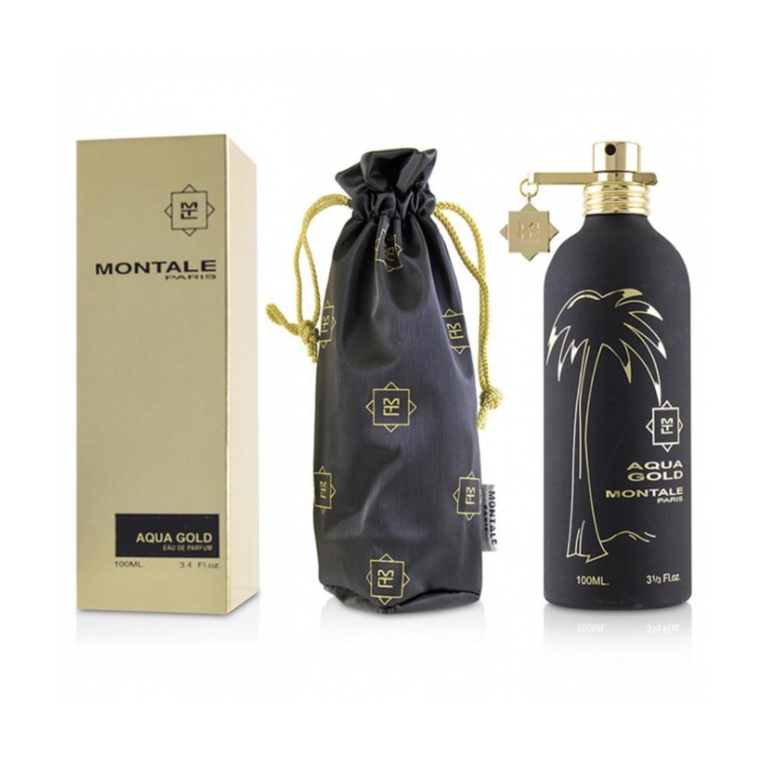 Духи унисекс цветочно-древесные MONTALE Aqua Gold 100ml парфюмированная вода  Монталь Аква Голд ОРИГИНАЛ