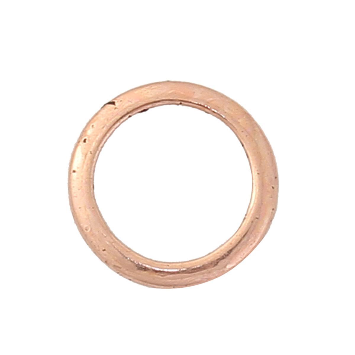 Колечко кругле, Закрите, Кругле, Колір: Рожеве золото, діаметр 12 мм
