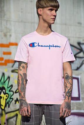 Мужская футболка Champion Pink ( Реплика ), фото 2