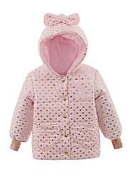 Детская демисезонная куртка на флисе на девочку, в расцветках, р.86-104