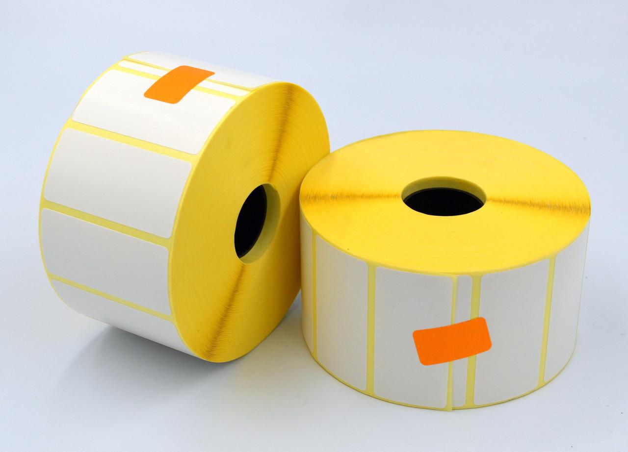 Етикетка SemiGloss полу-глянец 52x25 мм 2000 етикеток прямокутна 10 шт. White (SG52252000V25)