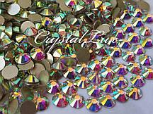 Стразы Lux ss16 Crystal AB (4.0mm) Gold foil 1440шт