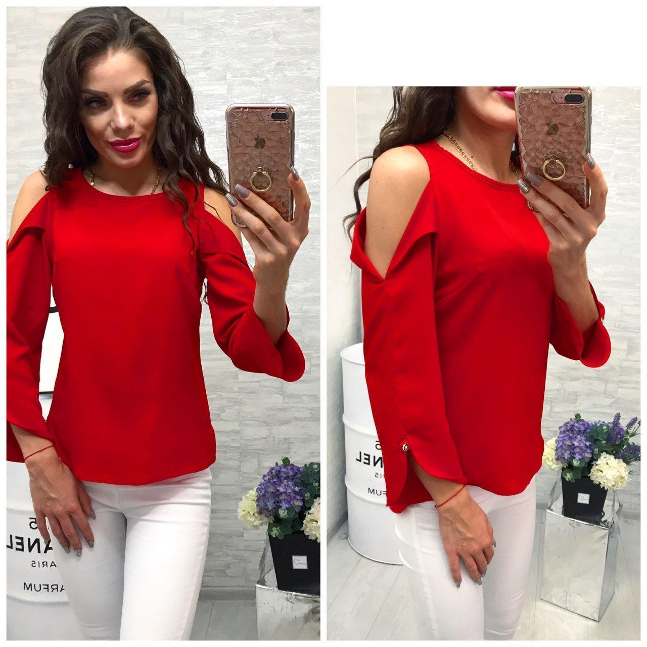 Блузка женская, модель 901/2 цвет красная