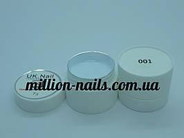 Гель-краска  для ногтей UK.Nail №01 цвет белый, 7 грамм