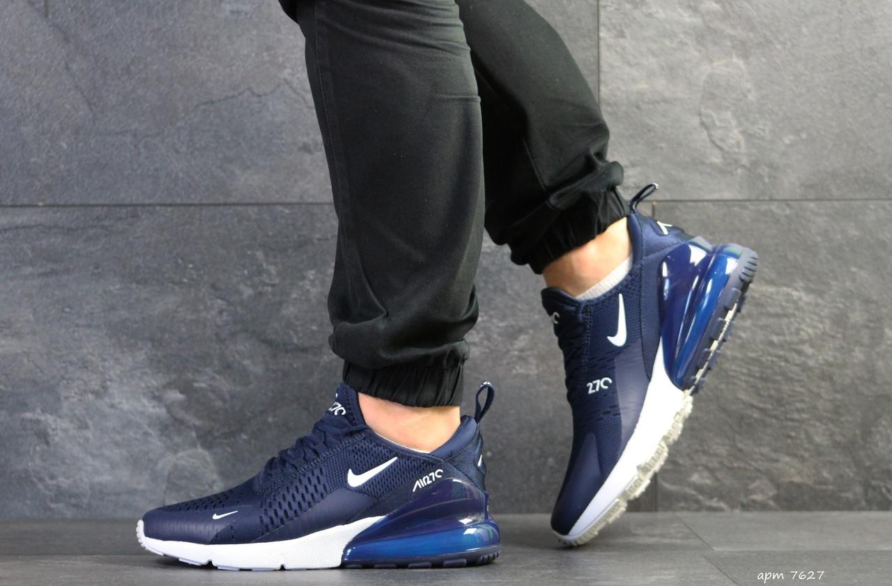Мужские кроссовки Nike Air Max 270,сетка,темно синие 44р