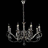 Классическая люстра-свеча на 8 лампочек СветМира VL-30872/8 (античная бронза)