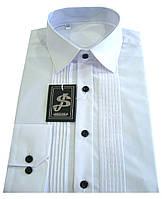 Рубашка мужская приталенная №12-14  - белая