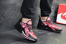 Мужские кроссовки Nike Air Max 270,сетка, красные с черным, фото 2