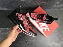 Мужские кроссовки Nike Air Max 270,сетка, красные с черным, фото 3