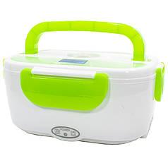 ★Ланч-бокс с подогревом Lesko RJH-A2 Green на два отделения для хранения еды портативный теплоизоляция