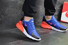 Мужские кроссовки Nike Air Max 270,сетка,синие с оранжевым, фото 2