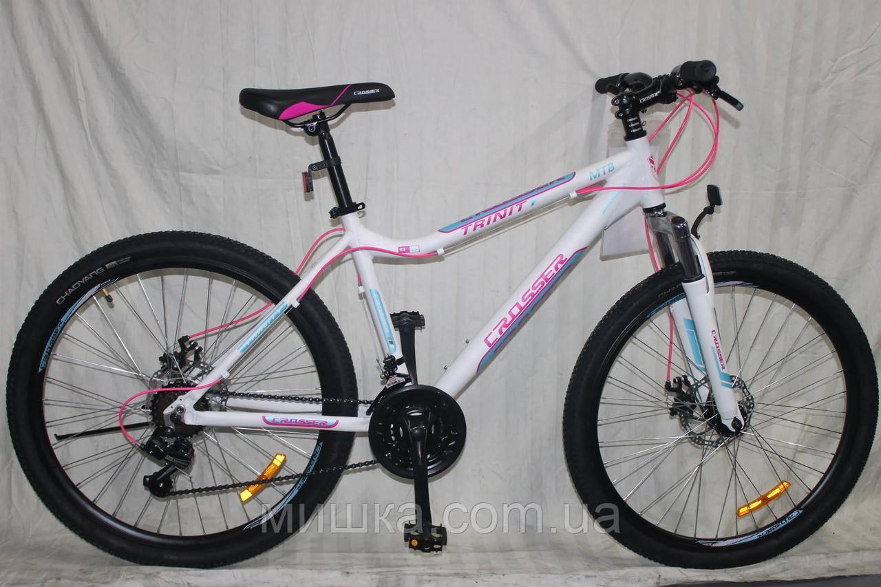 """Велосипед Crosser Trinity 24"""" рама 15"""", белый горный алюминиевый"""