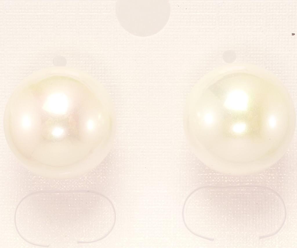 """Серьги XP Позолота 18К гвоздики """"Жемчужины"""" ø 12 мм"""