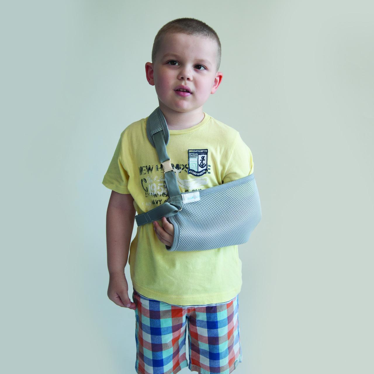 Бандаж-поддерживатель руки (косынка) kids Алком 3004, р.1, р.2, серый