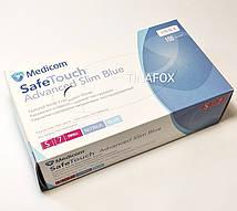 Перчатки для мастера нитриловые голубые Medicom 100 шт, размер S(7)