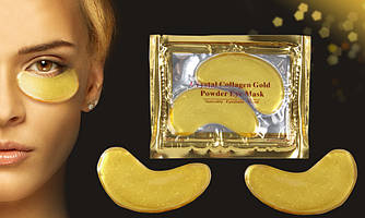 Коллагеновые патчи под глаза с био-золотом / Crystal collagen gold powder eye mask 10шт.