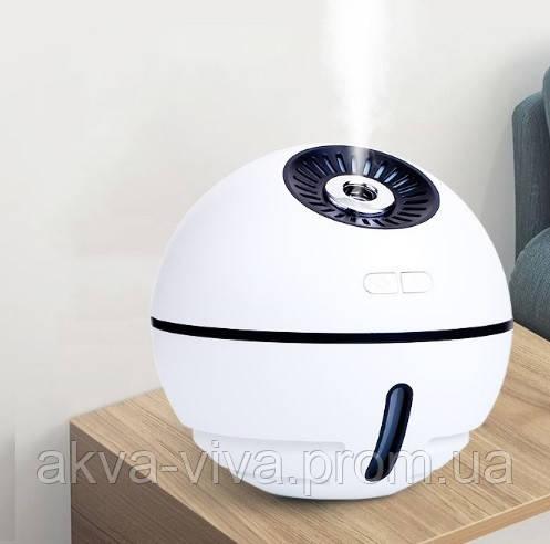 Увлажнитель воздуха для комнаты, рабочего места или машины с подсветкой и вентилятором (УВ-102)
