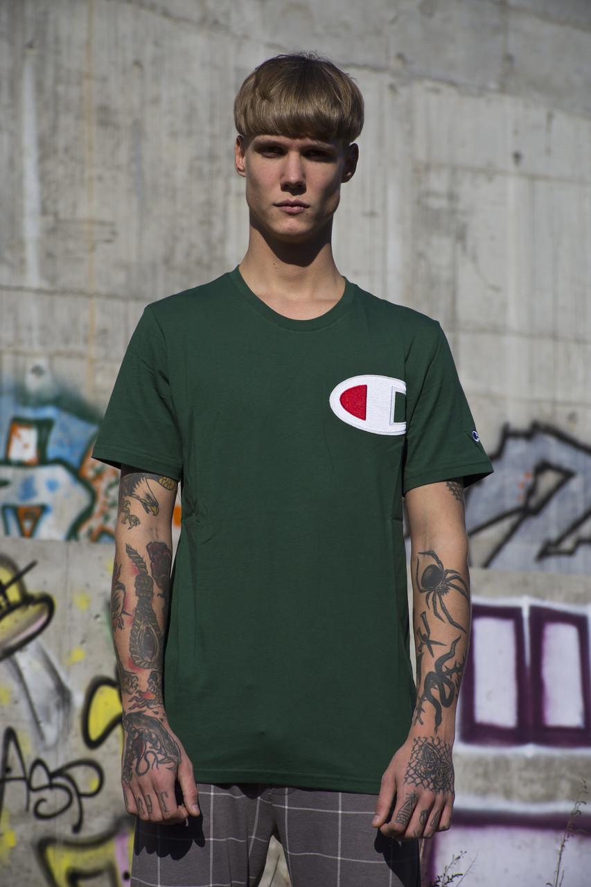 Мужская футболка Champion Green ( Реплика )