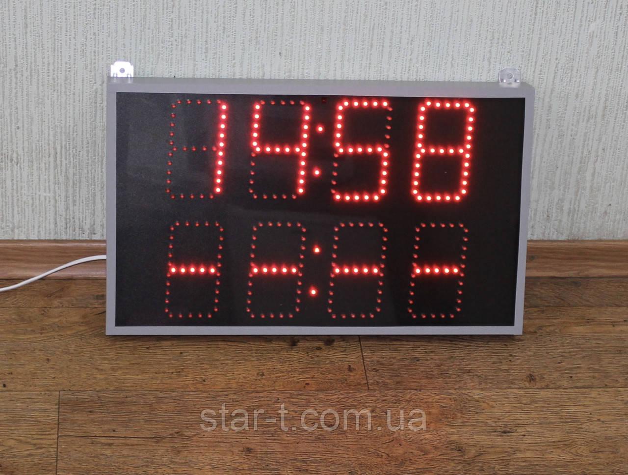 Светодионые часы с таймером, красного цвета