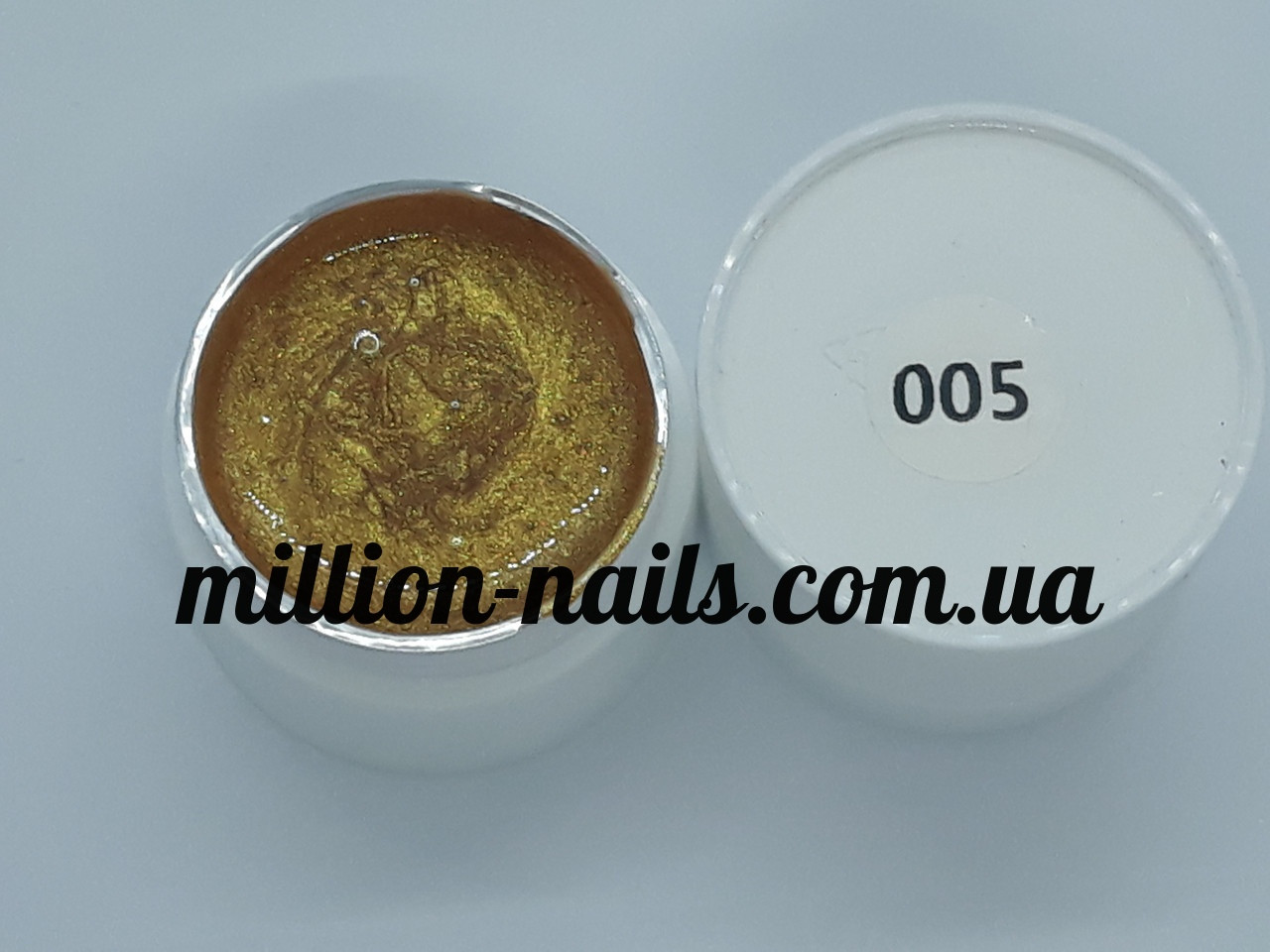 Гель-краска  для ногтей UK.Nail №05 цвет золото, 7 грамм