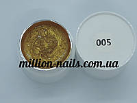 Гель-краска  для ногтей UK.Nail №05 цвет золото, 7 грамм, фото 1