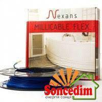 Двожильний нагрівальний тонкий кабель Nexans Millicable Flex 15 375 W ( 2,0 - 2,5 м² )