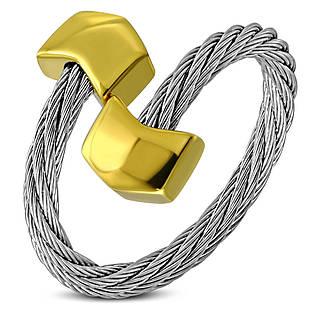 Жіноче сріблясте кільце-струна 316 Steel золотий