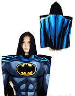 Полотенце пончо Bettman 55/110 p Детское пляжное полотенце пончо Бэтман супергерой