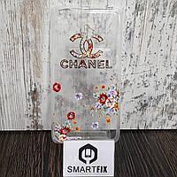Чехол с рисунком для Xiaomi Redmi 3 Надпись и цветы