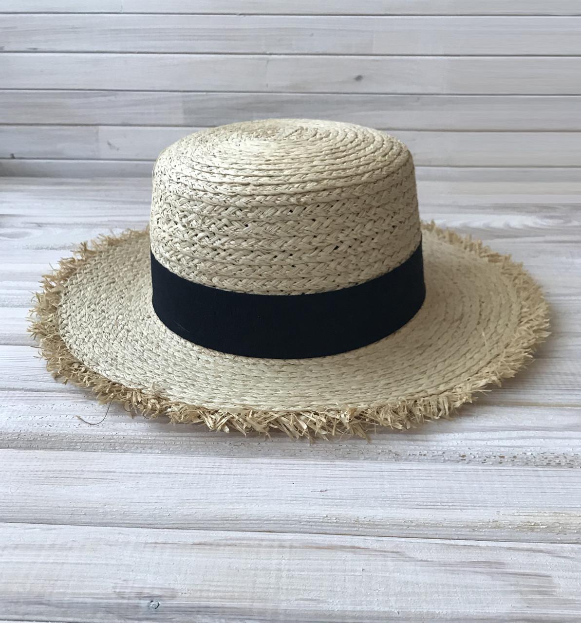 23da205dbc1a Женская соломенная шляпа, канотье