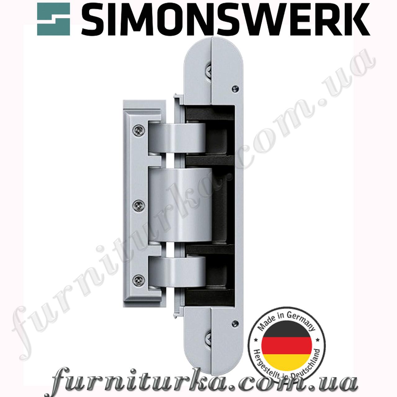 Петля для цельностеклянных дверей TEG 310 2D 60 (F1 сатин хром)