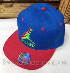 Подростковая реперка, арбузка, кепка с прямым козырьком Jordan, 54 размер