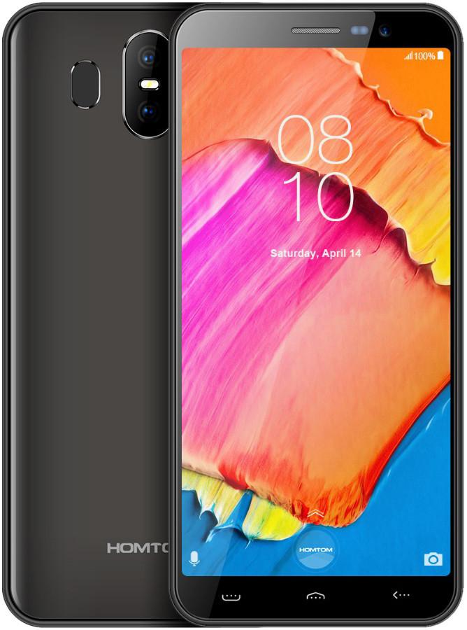 "Смартфон Homtom S17 Grey 2/16Gb, 8+2/5Мп, 4 ядра, 2sim, экран 5.5"" IPS, 3000mAh, GPS, 3G, MT6580"