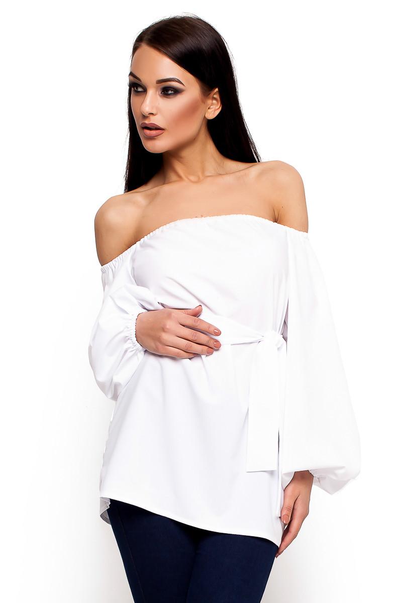 (S-M) Жіноча біла повсякденна блузка Lory