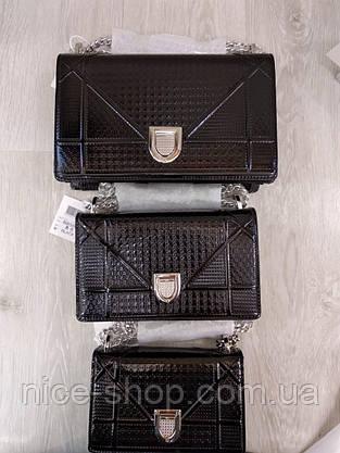Сумка Диорама, лаковая, макси, фото 2