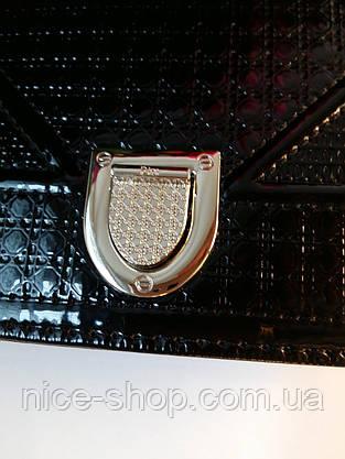 Сумка Диорама, лаковая, макси, фото 3