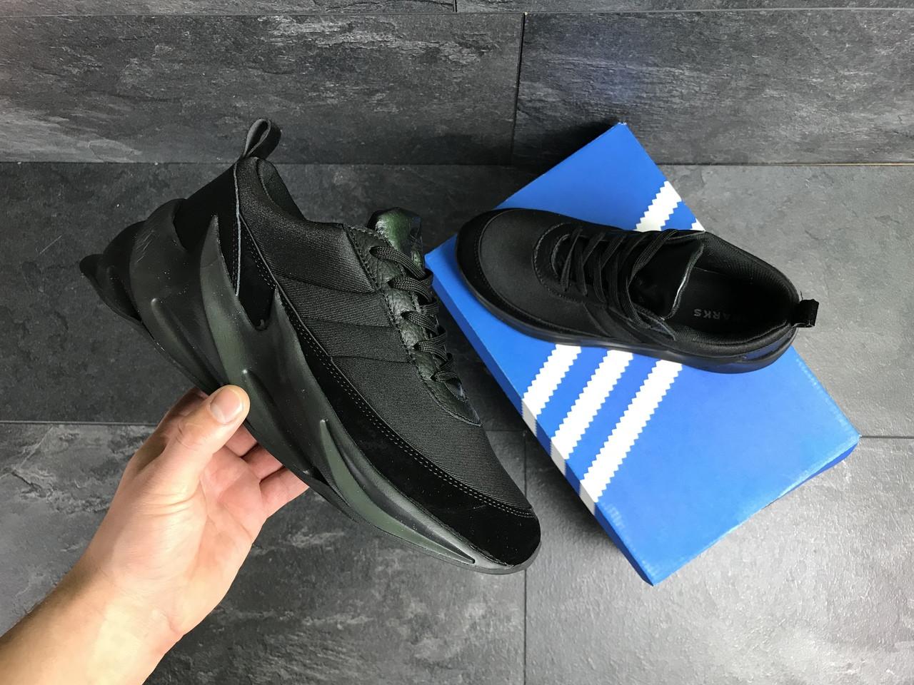 Мужские кроссовки Adidas Sharks (черные)