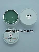 Гель-краска  для ногтей UK.Nail №10 цвет морская волна 7 грамм