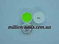 Гель-краска  для ногтей UK.Nail №11 цвет кислотно-лимонный 7 грамм, фото 1